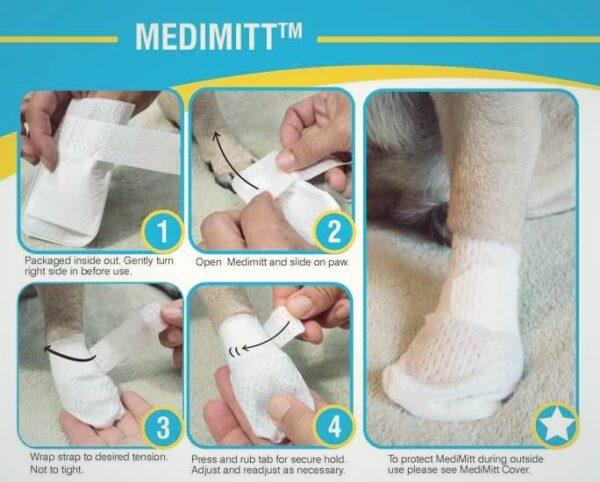 PawFlex Medimitt poot verband