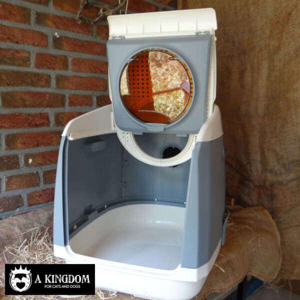 Een koninklijk katten toilet