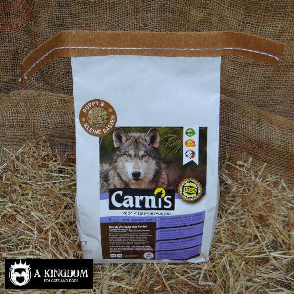 Carnis geperste hondenbrok voor puppy's & kleine hondjes Konijn