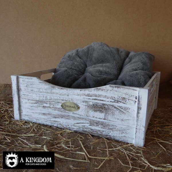 houten slaapmand hond kat