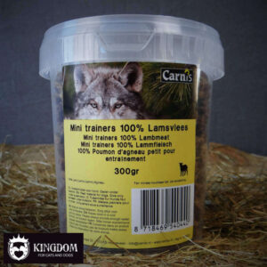 Snack Hond-Kat Carnis mini vleestrainers Lam 300gr