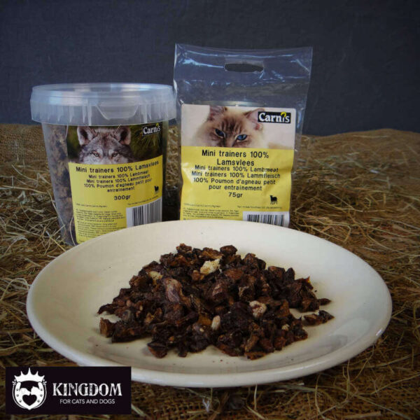 Snack Hond-Kat Carnis mini vleestrainers Lam