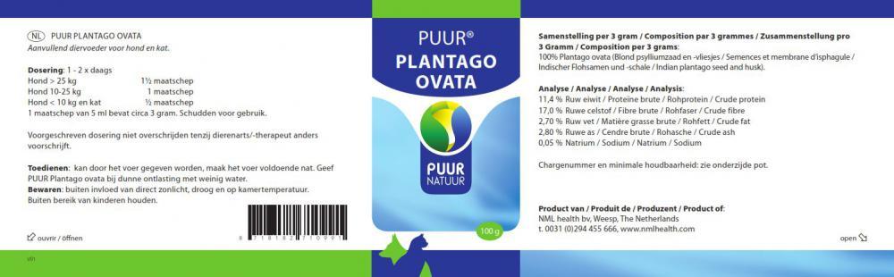 Puur Plantago Ovata tegen diarree en verstopping.