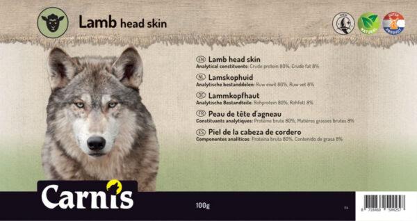 Stevige snack voor Hond Carnis gedroogde Lamskophuid
