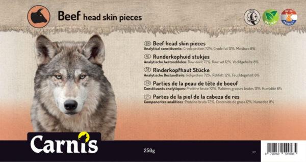 Stevige snack voor Hond Carnis gedroogde Runderkophuid