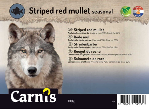 Snack voor Hond & Kat Carnis gedroogde Rode Mul