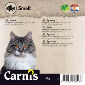 Snack voor Hond Kat Carnis gedroogde Spiering