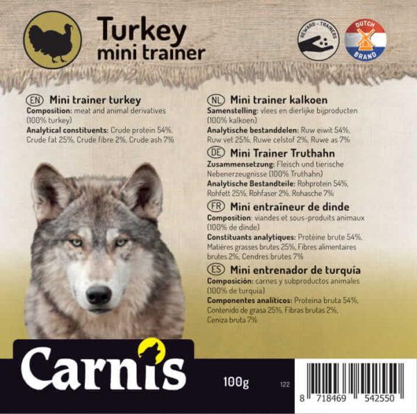 Carnis mini vlees trainer Kalkoen