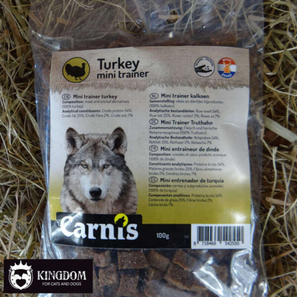 Snack Hond Kat Carnis mini-trainers Kalkoen