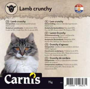 Snack voor Hond & Kat, Carnis mini-trainers gedroogd Lamsvlees crunchy