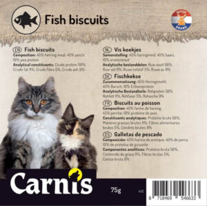 Snack voor Hond & kat Carnis Vis koekjes
