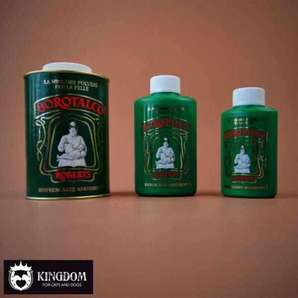 TalkPoeder Borotalco Grooming product tegen vette vacht.