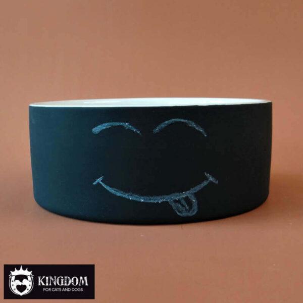 Voerbak PAIKKA Cool Bowl met krijt-tekst