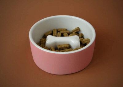 Voerbak Paikka Cool Slow Feed Pink M