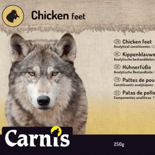Snack voor Hond Carnis gedroogde Kippenklauwen