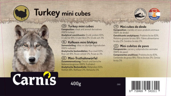 Carnis mini vlees blokjes Kalkoen