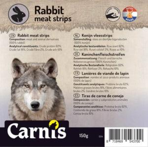 Snack Hond Kat Carnis vlees strips Konijn