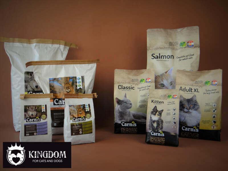 Nieuwe verpakkingen voor Carnis honden & katten brokken